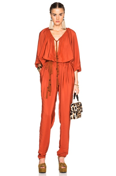 Lanvin Jumpsuit in Ginger Red