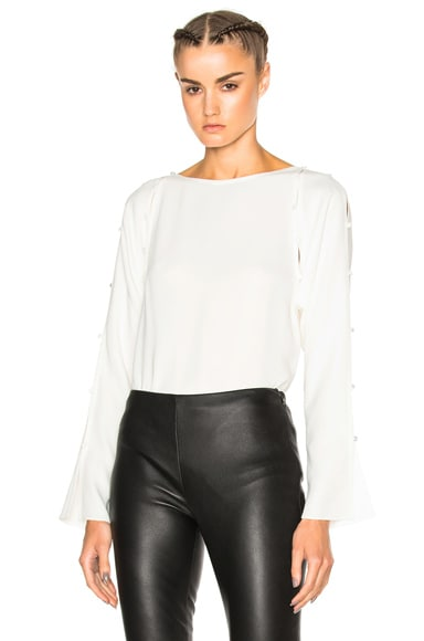 Lanvin Long Sleeve Top in Ecru
