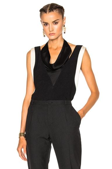 Lanvin Drape Top in Black
