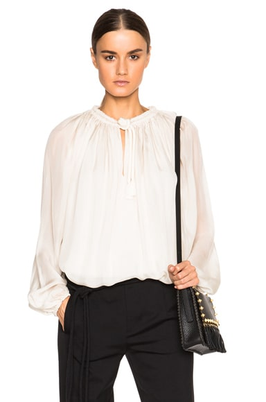 Lanvin Jersey Blouse in Chalk