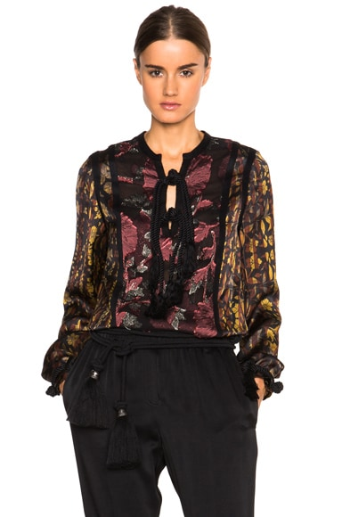 Lanvin Embroidered Blouse in Terracotta