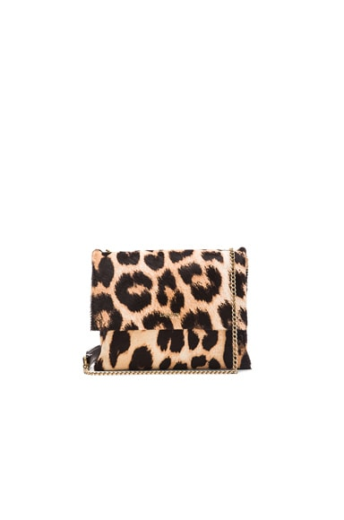 Lanvin Mini Leopard Print Sugar Bag in Natural