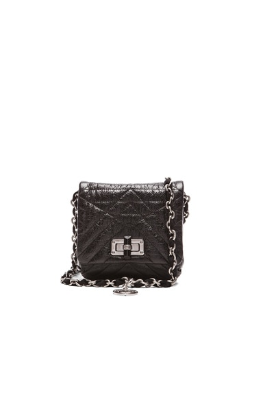 Lanvin Mini Happy Metallic Quilted Pop in Black