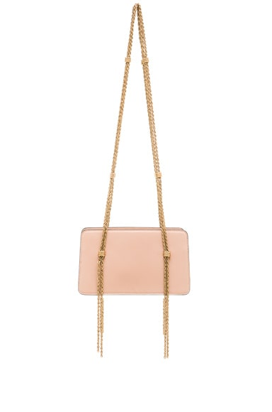Lanvin Chain Strap Calfskin Bag in Nude