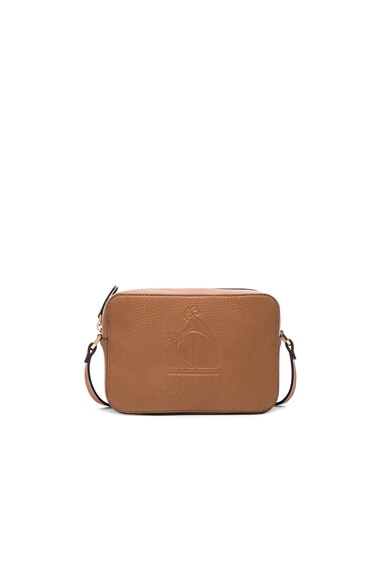Lanvin Mini Logo Crossbody Bag in Camel