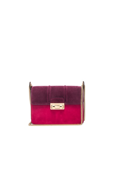 Lanvin Small Jiji Bag in Burgundy