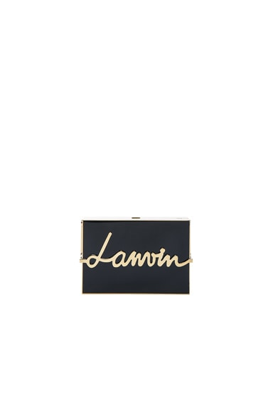 Lanvin Lacquered Resin Minaudiere in Black