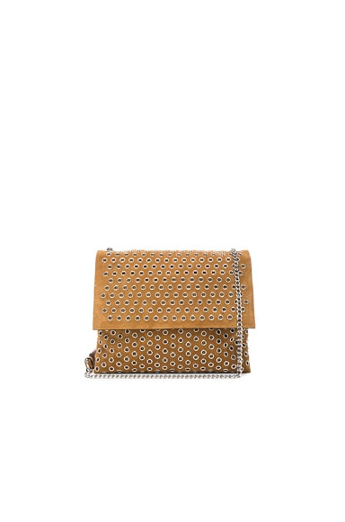 Lanvin Mini Eyelet Bag in Camel
