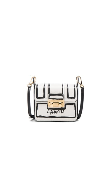 Lanvin Mini Contouring Print Jiji Bag in Black & White