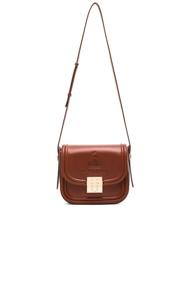 Lanvin Medium Calfskin Bag in Chestnut
