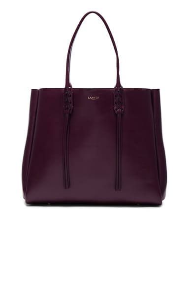 Lanvin Large Shopper Tote in Aubergine