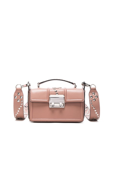 Lanvin Small Leather Jiji Box Bag in Nude