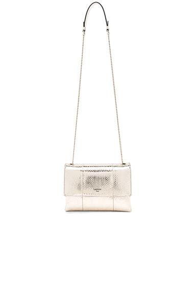 Lanvin Snake Skin Mini Sugar Bag in Light Gold