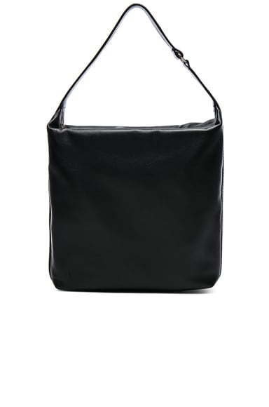 Lanvin Calf Leather Medium Hobo Bag in Black