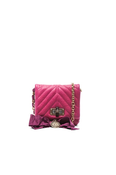 Lanvin Mini Happy Quilted Pop in Fuchsia