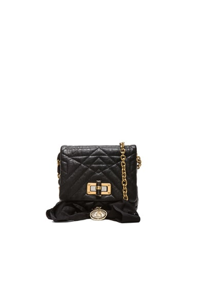 Lanvin Mini Happy Quilted Pop in Black