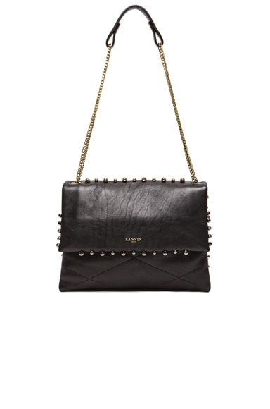 Lanvin Pearl Studded Sugar Bag in Black