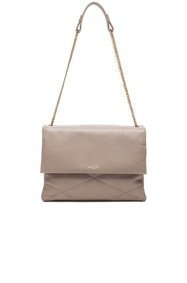 Lanvin Medium Lambskin Chain Bag in Grey