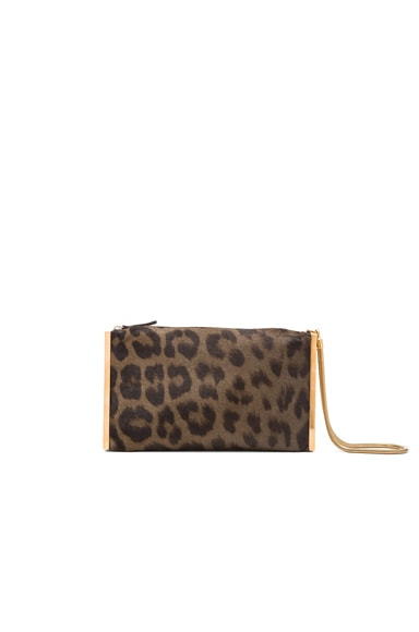 Lanvin Leopard Private Clutch in Anthracite