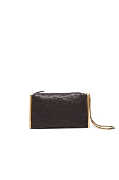 Lanvin Lambskin Private Clutch in Black