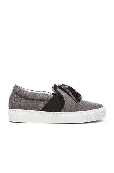 Lanvin Tassel Wool Sneakers in Grey