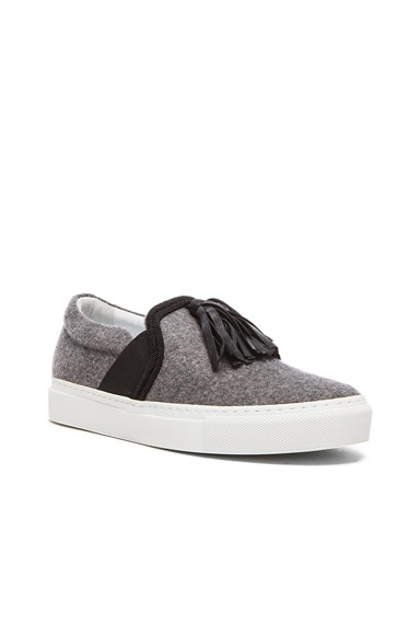Tassel Wool Sneakers