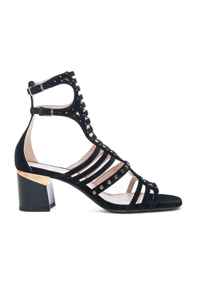 Lanvin Multi Strap Studded Sandals in Black