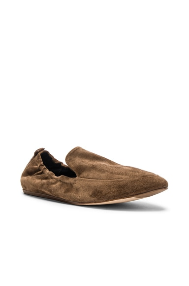 Suede Loafer Flats