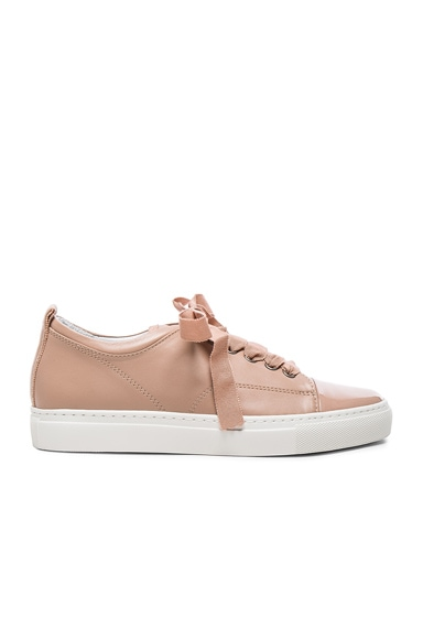 Lanvin Low Top Sneakers in Powder & Nude