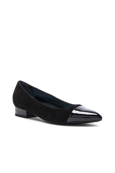 Suede Pointy Ballerina Flats