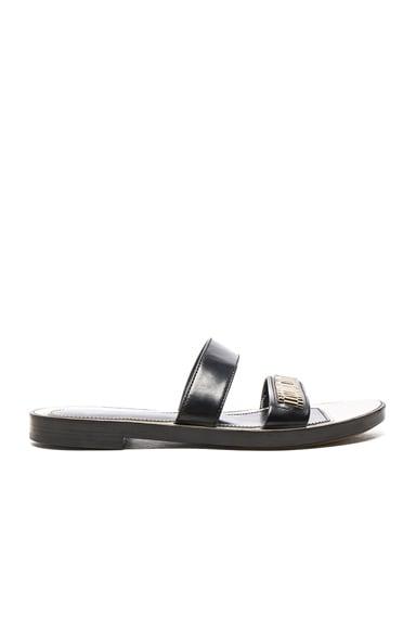 Lanvin Flat Chain Sandals in Black