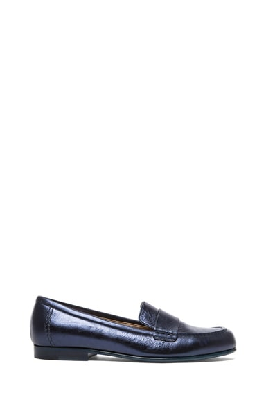 Metallic Calfskin Loafers