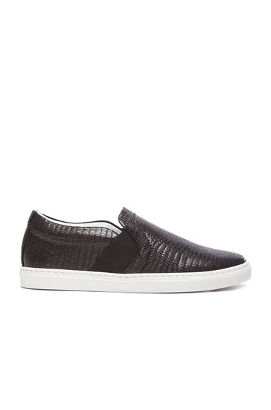 Lanvin Textured Slip On in Black