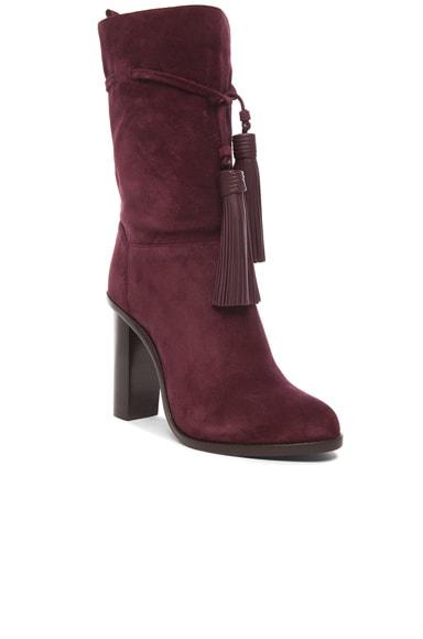 Suede Tassel Boots