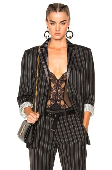 La Perla Airy Blooms Bodysuit in Black