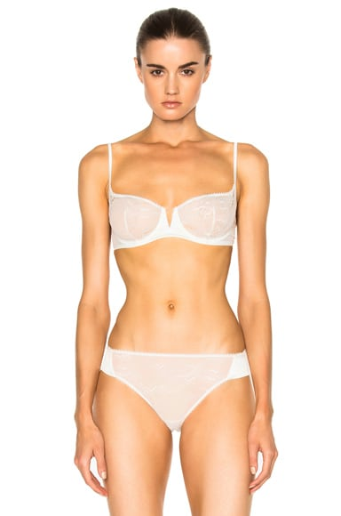 La Perla Lace Harmony Balconette Bra in White Milk