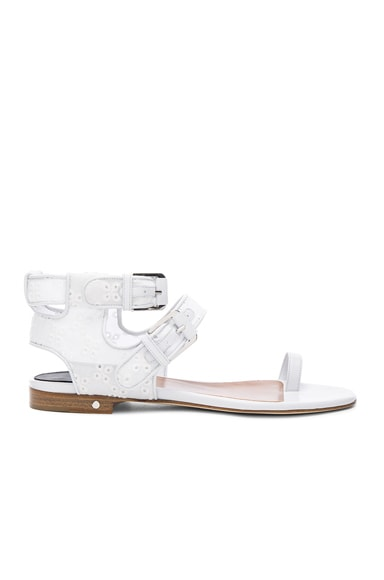 Laurence Dacade Eyelet Diego Sandals in White