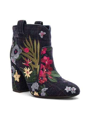 Embroidered Wool Pete Booties