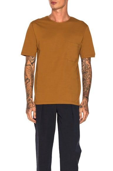 Lemaire Pocket Tee in Tobacco