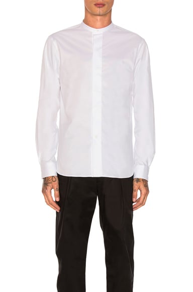 Lemaire Officer Shirt in White