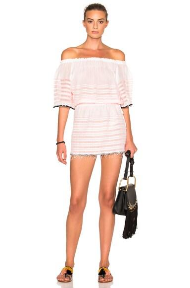 Lemlem Nadia Off The Shoulder Dress in Petal