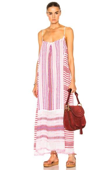 Lemlem Tabtab Slip Dress in Scarlet