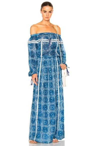 Lemlem Makena Maxi Dress in Blue