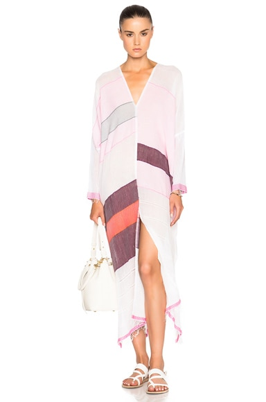 Lemlem Eve Long Open Back Caftan in Pink