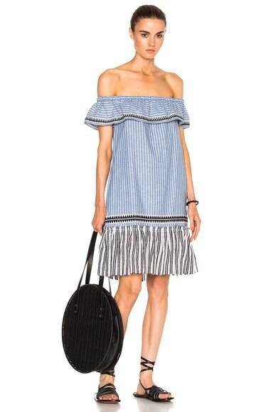Lemlem Amara Mini Dress in Blue