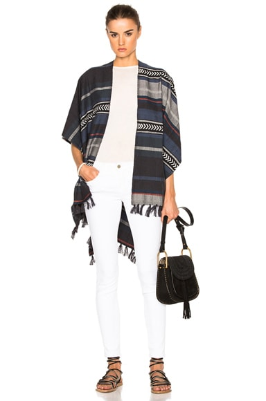 Lemlem Yohannes Wrap Poncho in Teal