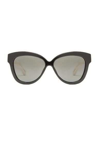Linda Farrow Cuved Square Sunglasses in Black