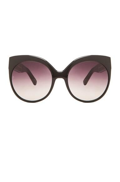 Linda Farrow Cutout Cateye Sunglasses in Black