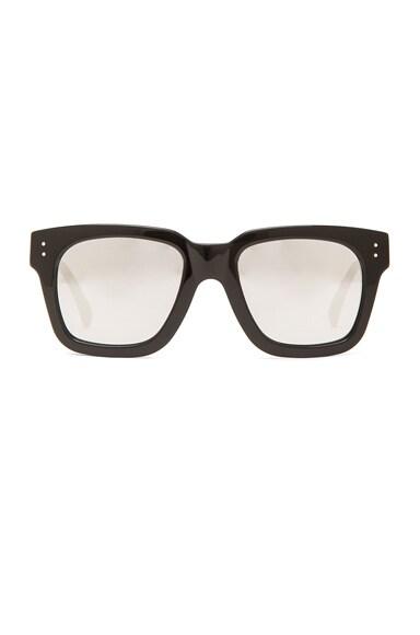 Linda Farrow Square Sunglasses in Black
