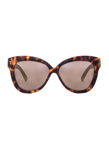 Linda Farrow Cat Eye Sunglasses in Matte Tortoise